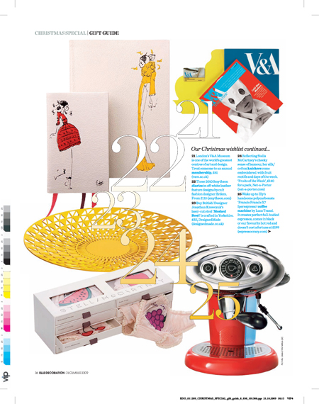 Elle Decoration Christmas wishlist 2009