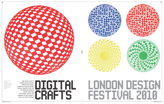 Blueprint Magazine - Digital Crafts - London Design Festival 2010 - December 2010 issue