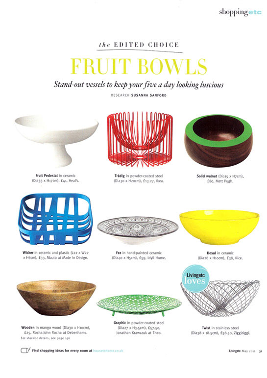 Livingetc May 2011 - Fruit Bowls