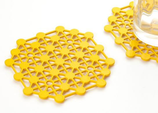 Steel Molecular Coasters